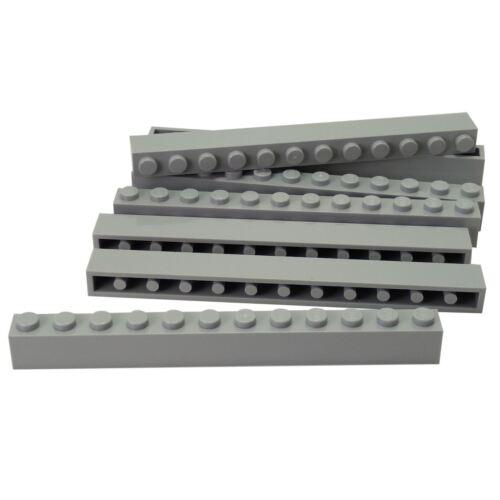 7 NEW LEGO Brick 1 x 12 Light Bluish Gray