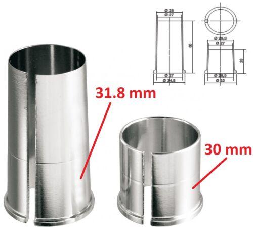 SET BIKE SEATPOST REDUCER 30 31.8 MM SHIM EXTENSION CONVERT TUBE ADAPTER ADAPTOR