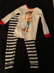 BABY GAP DISNEY TOY STORY WOODY PAJAMAS TODDLER 4T WHITE ...