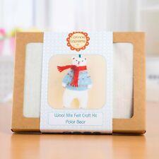 Corinne Lapierre Mini Polar Bear Felt Craft Kit