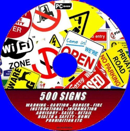 500 segni stampabile essenziale della salute//Sicurezza COSHH lavoro a casa al dettaglio QC cane pccd