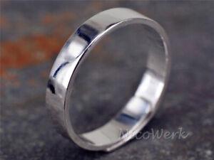 Silberring-Bandring-Glatt-Schlicht-Glaenzend-Ring-Silber-925-Verstellbar-Offen