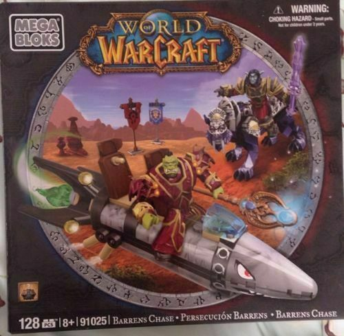 NEW World of WarCraft Barrens Chase Mega Bloks Building Set 91025-128 pc