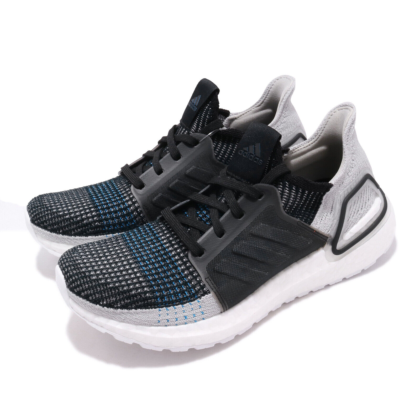 Adidas UltraBOOST 19 Negro gris Azul Hombres Para Zapatos Tenis Informales Correr F35242