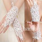 Lace White Ivory Bridal Gloves Short Appliques Wedding Glove Bridal Accessories