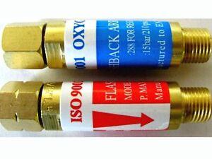 Torch Welding JAHY Acetylene//Propane /& Oxygen FLASHBACK ARRESTOR Set TORCH End