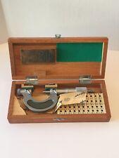 Mitutoyo Screw Thread Pitch Micrometer 126 137 126 136a 0 1 Clean Unit