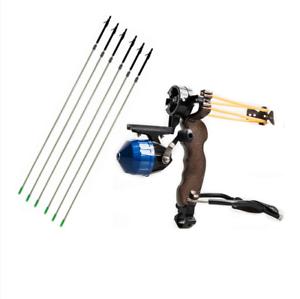 Tiro con arco Muñeca catapulta & 6 un. Pesca Flechas De Carbono caza arco de destino