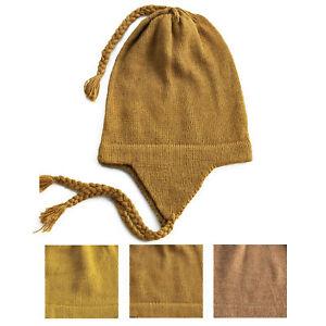 cccfa1b86 Details about 100% Alpaca Wool Chullo Earflap Hat Women Men Accessories One  Size ~ Yellow