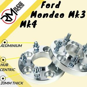 FORD-Mondeo-Mk3-Mk4-5x108-20mm-Hubcentric-Wheel-Distanziatori-1-COPPIA-fatta-in-UK