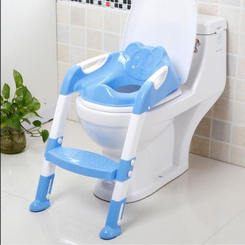Faltbar Toilettentrainer Kinder WC Sitz Toilettensitz Lerntöpfchen Töpfchen Blau