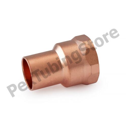 "1//2/"" C x 1//2/"" Female NPT Threaded Copper Adapter"