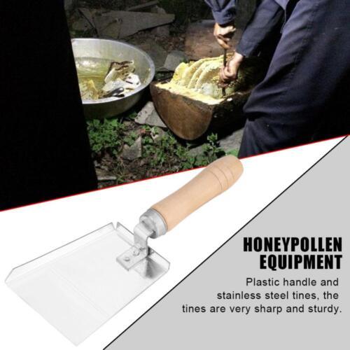 Wooden Handle Honey Pollen Shovel Scraper Bee Hive Beekeeping Equipment Supplies