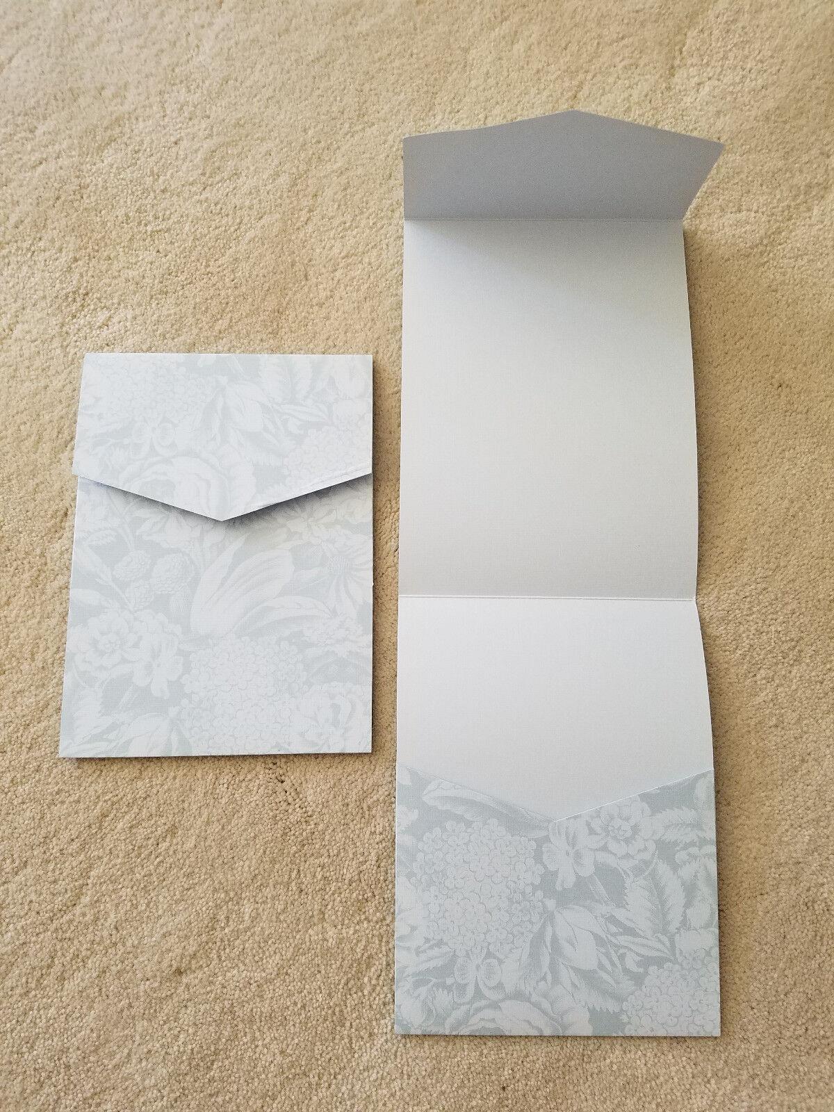 Poche Fold invitations par envelopments fleuri bleu 5 1 4  X 7 1 4  Quantité 105