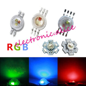 3X1W 3X3W RGB RGBW Epiles High Power LED Diode 4pin 6pin 8pin with 20mm star