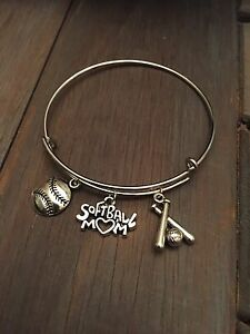 Image Is Loading Softball Charm Bracelet Mom