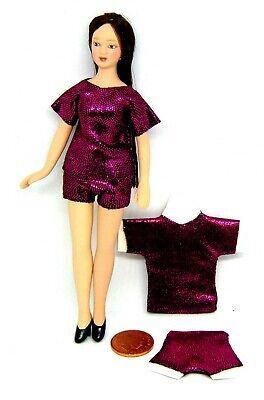 1:12 Scala Donna Pantaloncini E T-shirt Tumdee Abbigliamento In Miniatura Casa Delle Bambole Set 1-mostra Il Titolo Originale
