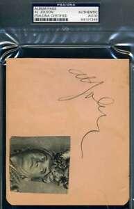 AL-JOLSON-Signed-PSA-DNA-Coa-Album-Page-Autograph-Authentic