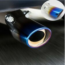STAINLESS STEEL TRI COLOUR SILENCER Tail EXHAUST Muffler Tip Single Silencer