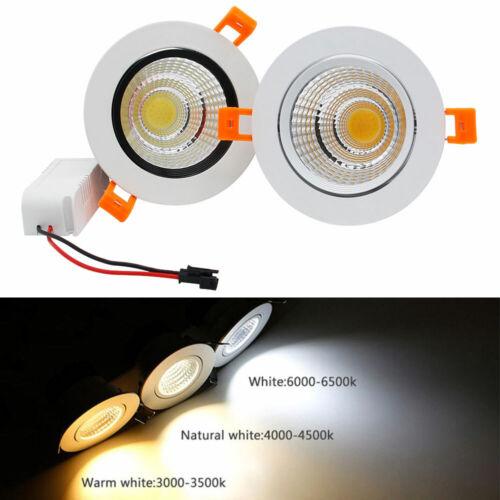 7W 9W 12W 15W 20W LED Recessed Ceiling Downlight Cabinet Light Fixture Spot Lamp