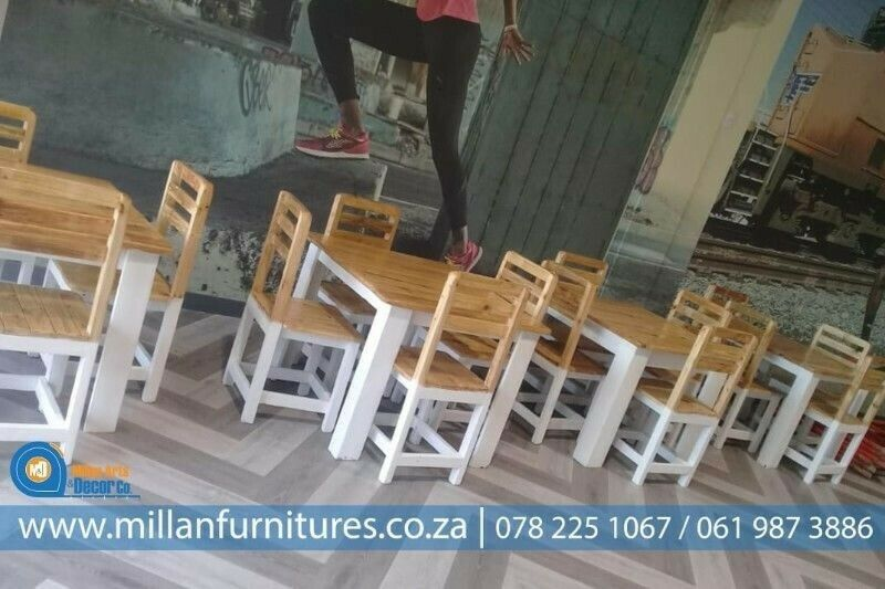 RESTAURANTS TABLES AND CHAIRS SETS.