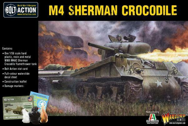 SHERMAN CROCODILE FLAMETHROWER   - BOLT ACTION - WARLORD GAMES -