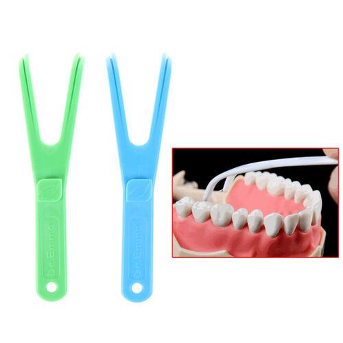 1X langlebiger Zahnseidenhalter in Y-Form zur Zahnpflege P/<i X0DE