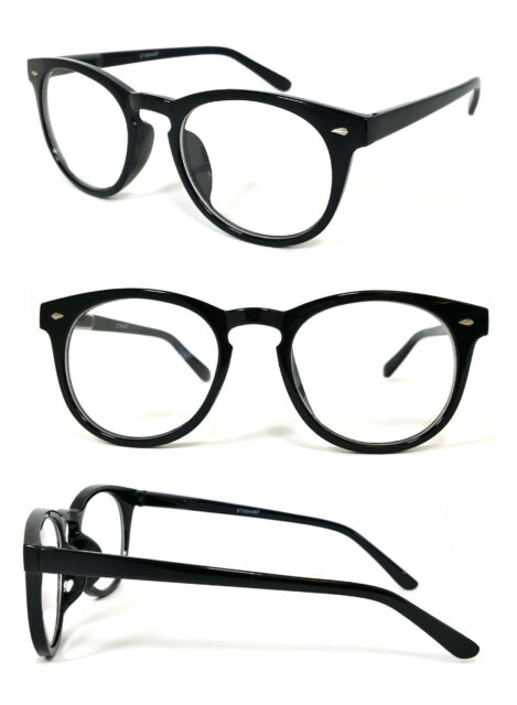 Blended Bifocal Reading Glasses Round Clubmaster Wayfarer Mens Womens 3 Color