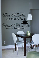 Coffee Time Friend Quote Wall Stickers Art Kitchen Removable Decals DIY
