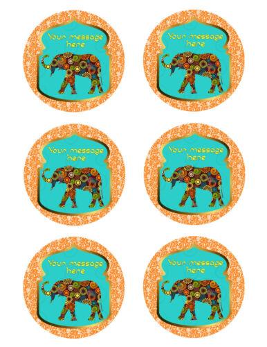 Ethnic ELEPHANT India Party Image Edible cake topper decoration