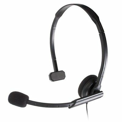 Cuffie nere Headset Headcom pro Microfono per Sony PS3