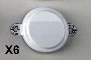 """3/4"""" Metal White Capseal Package of 6"""