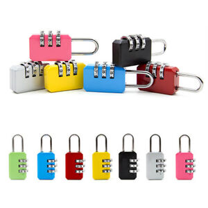 Security-3-Digit-Combination-Travel-Suitcase-Luggage-Bag-Code-Lock-Padlock-New