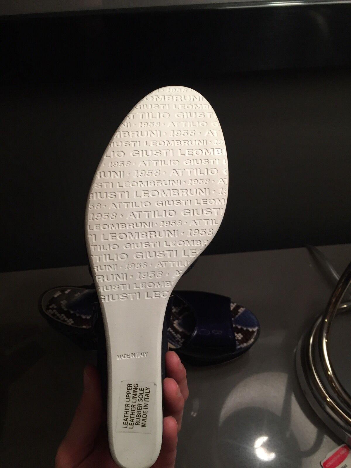 New AGL 40.5 Denim Wedge Sandale Größe 40.5 AGL / US 10.5 a25c85