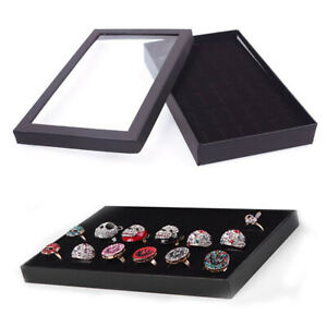 FJ-Transparent-Earring-Case-Display-36Slots-Jewelry-Organizer-Tray-Ring-Box-Sto