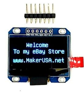 HQ-1-3-034-128-64-OLED-Graphic-Display-Module-SPI-LCD-Blue