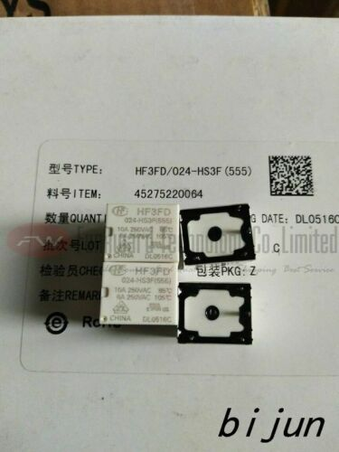 555 HF3FD//024-HS3F HF3FD-024-HS3F Submin PCB Relay 10A 250VAC 4 Pins X 2PCS