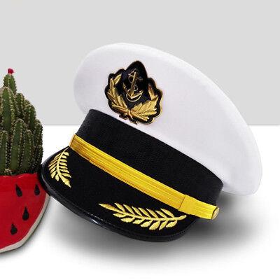 Ship Sailor White Sailor Captain Hat Uniforms Costume Party