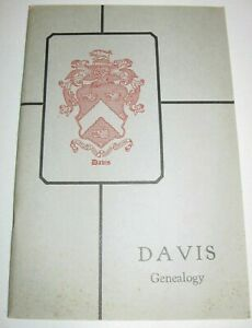 DAVIS-FAMILY-RECORDS-1929-Book-GENEALOGY-Seaver-BIRTHS-DEATHS-MARRIAGES