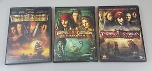Details about Pirates of the Caribbean 1,2,3 At World's End Chest Pearl  Disney DVD Lot 3 B2