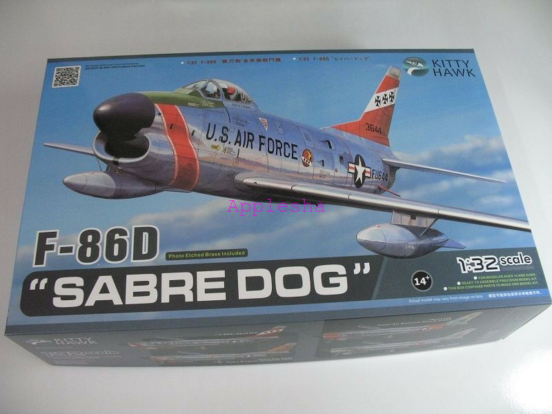 Kitty Hawk 32007 1 32 F-86D  Sabre Dog   New