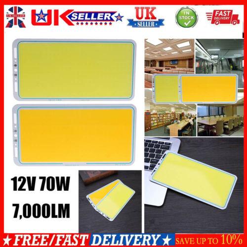 12V 70W 7,000LM LED DIY Panel Strip COB Light Decor Lamp Balanced Universal UK