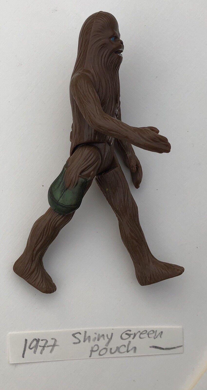 1977 - star - wars - chewbacca original kenner glänzend grünen beutel action - figur
