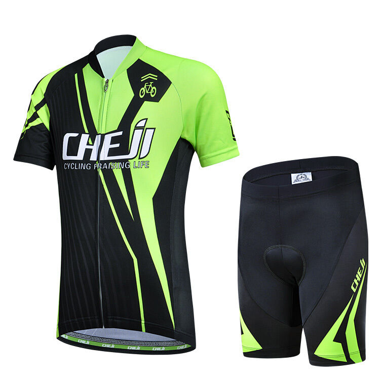 CSP15 Design Bicycle Bike Cycling Jersey Short Sleeves Set  For Kids Boys Girls  cheap store