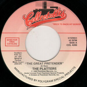 THE-PLATTERS-The-Great-Pretender-7-034-45