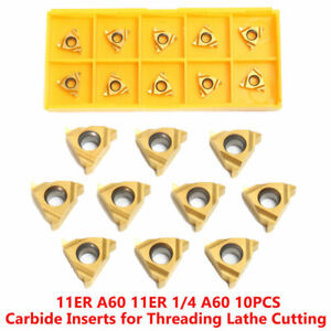 10Pcs-1-4-039-039-11ER-A60-Carbide-Inserts-Lathe-CNC-Blade-Thread-Turning-Tool-Box