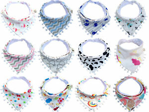 1pcs Baby Kids Cotton Bandana Bibs Feeding Saliva Towel Dribble Triangle Set