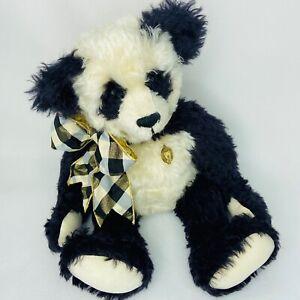 Artist-Panda-Teddy-Bear-Judy-Howard-Curly-German-Mohair-19-034-Jointed-Glass-Eyes