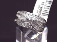 Victoria Wieck Sterling Silver Invisible Set Overlay Ring Clear Absolute Ring 7