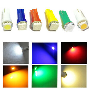 50x-T5-Car-Auto-Light-5050-1SMD-Wedge-Dashboard-Led-White-Red-Blue-Green-Yellow